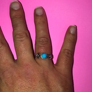 BRAND NEW turquoise and silver costume jewelry